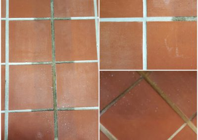 Teracotta tiles - before and after