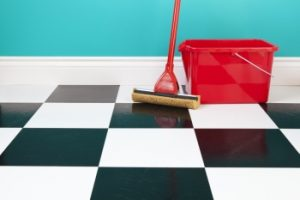 Using a hard scrub is a tile cleaning mistake